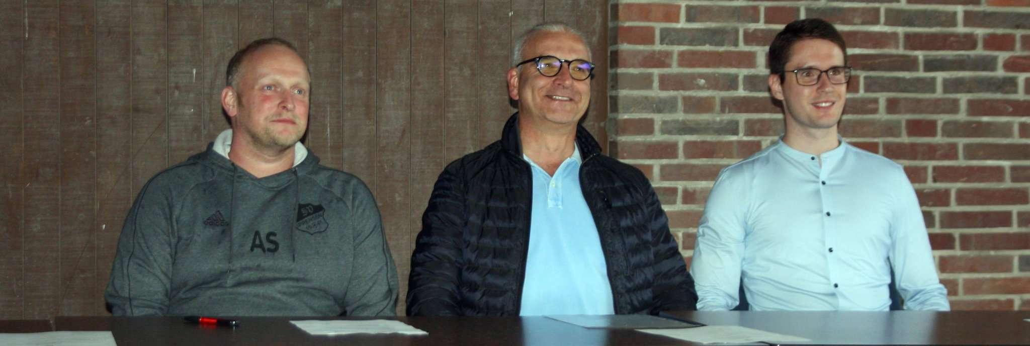 Der Vorstand Alexander Streu (von links), Thomas Liebscher, Marco Klindworth hatte Gutes zu berichten.