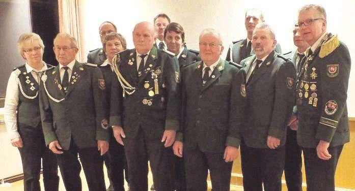 Die geehrten Mitglieder des Schützenvereins Wittkopsbostel