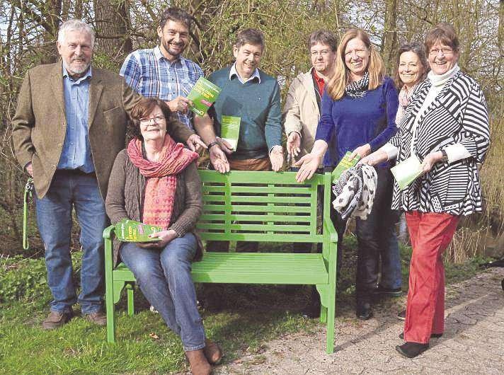 Ein Platz im Grünen sozusagen: Wer mag, darf sich setzen und mit den Grünen austauschen.