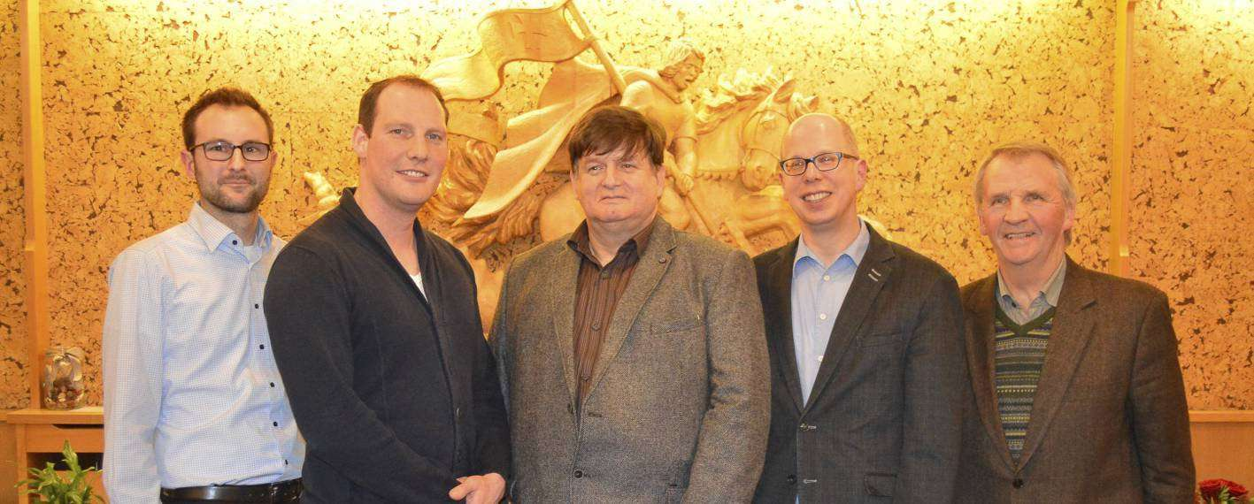 Der neue Vorstand des Sottrumer CDU-Gemeindeverbands (von links): Julian Loh, Benjamin Stapelfeldt, Vorsitzender Helmut Intemann, Achim Figgen und Hermann Rugen.