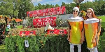 Erntefest Hellwege Biermotto gewinnt Wagenwettbewerb
