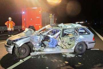Hoher Schaden bei Unfall auf Autobahn 1