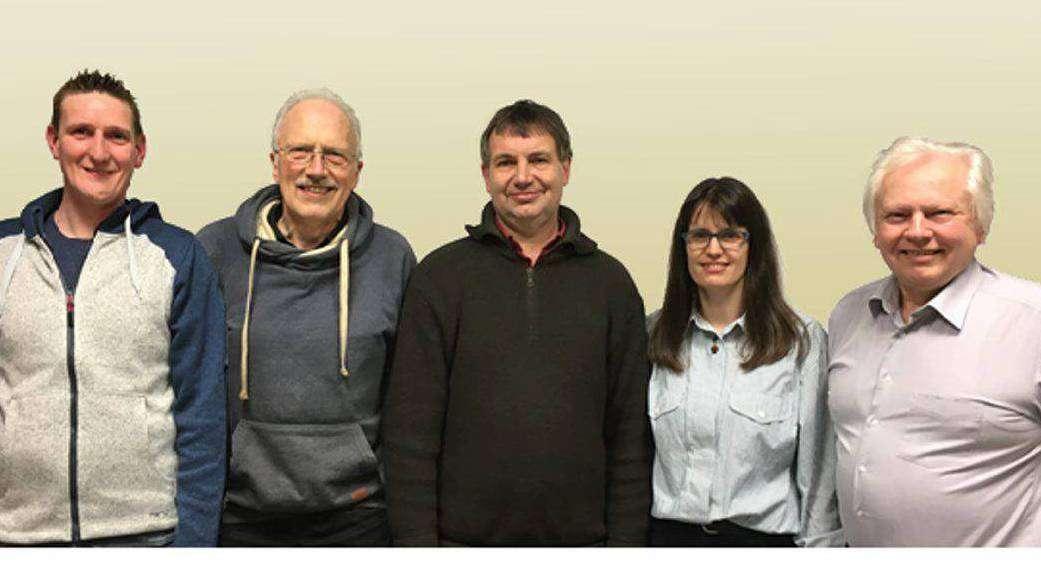 Der Vorstand will neuen Schwung in das Vereinsleben des TSV Stuckenborstel bringen. Von rechts: Hans-Jürgen Brandt, Marianne Ziegert, Heino Küsel, Paul Bockhorst und Martin Gleimann