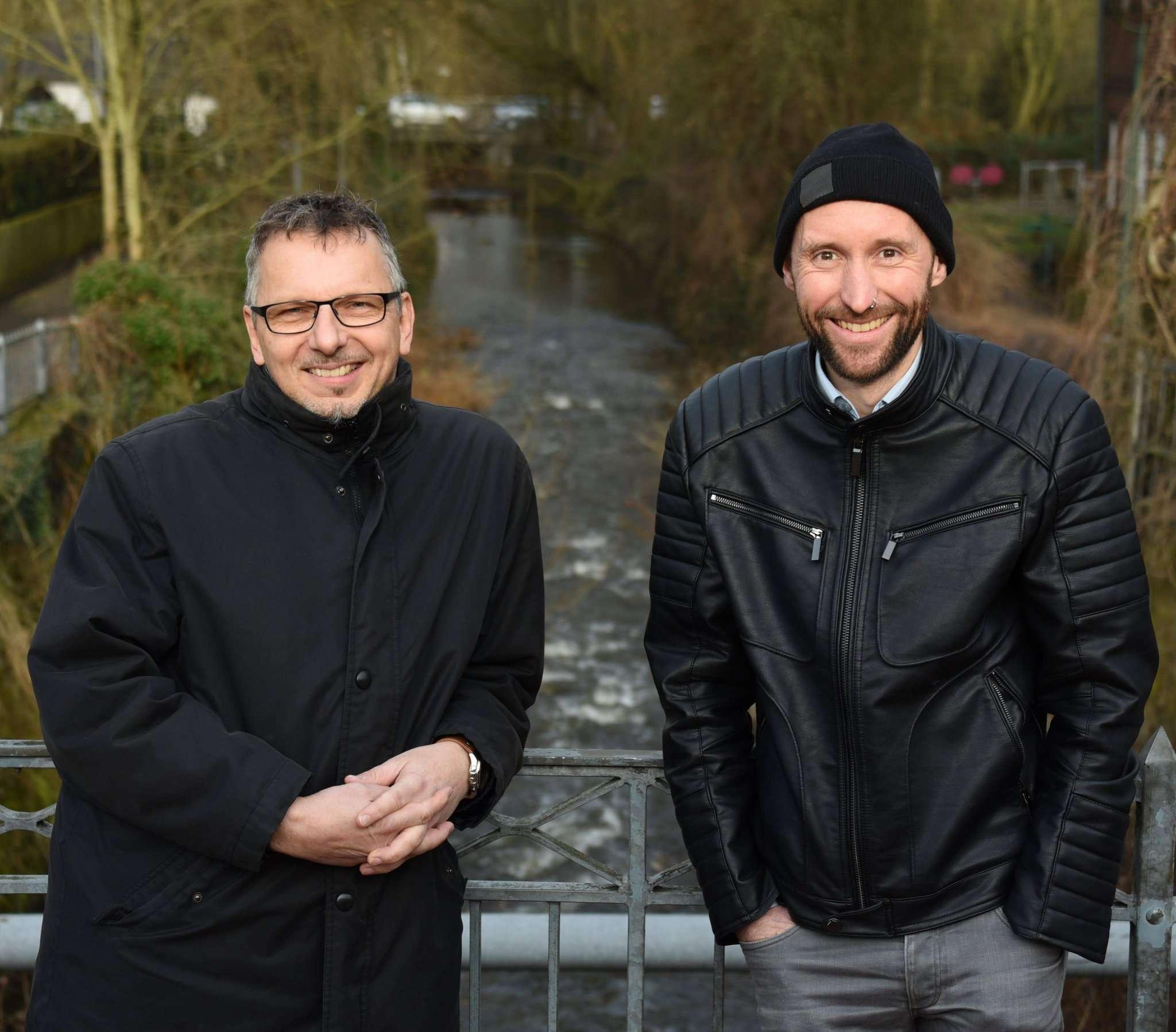 Alles im Fluss: Roland Stegmann (links) und Benjamin Faber erzählen von Veränderungen und Höhepunkten bei