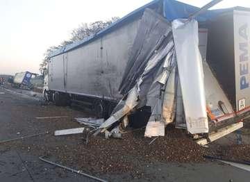 Unfallserie auf der A1 Einsätze am Montag