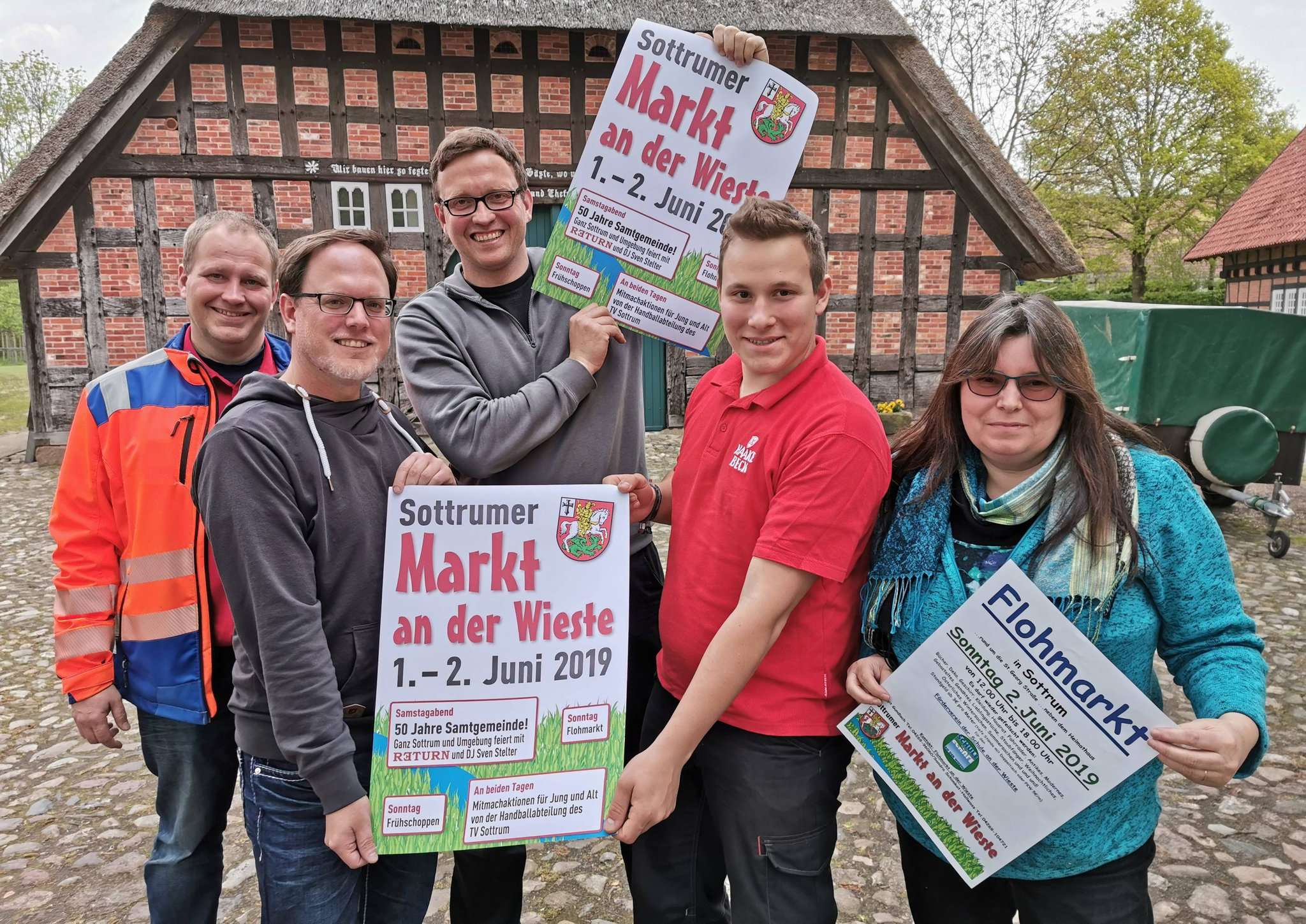 Björn Becker (von links), Michael Lindemann, Eric Kruse, Marius Söffker und Birgit Gundlach freuen sich schon auf den