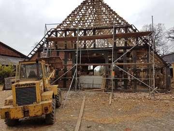 Heimatverein bereitet Fachwerkgebäude für Verlegung vor