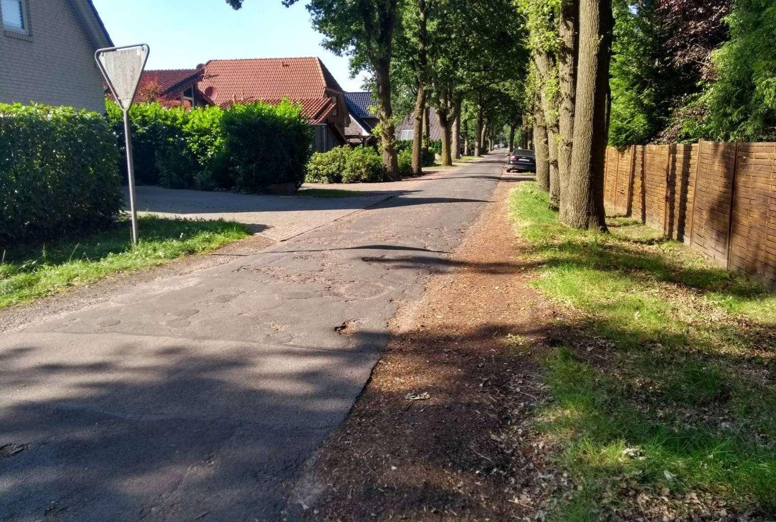 Auch die notwendigen Sanierungsmaßnahmen der Straße