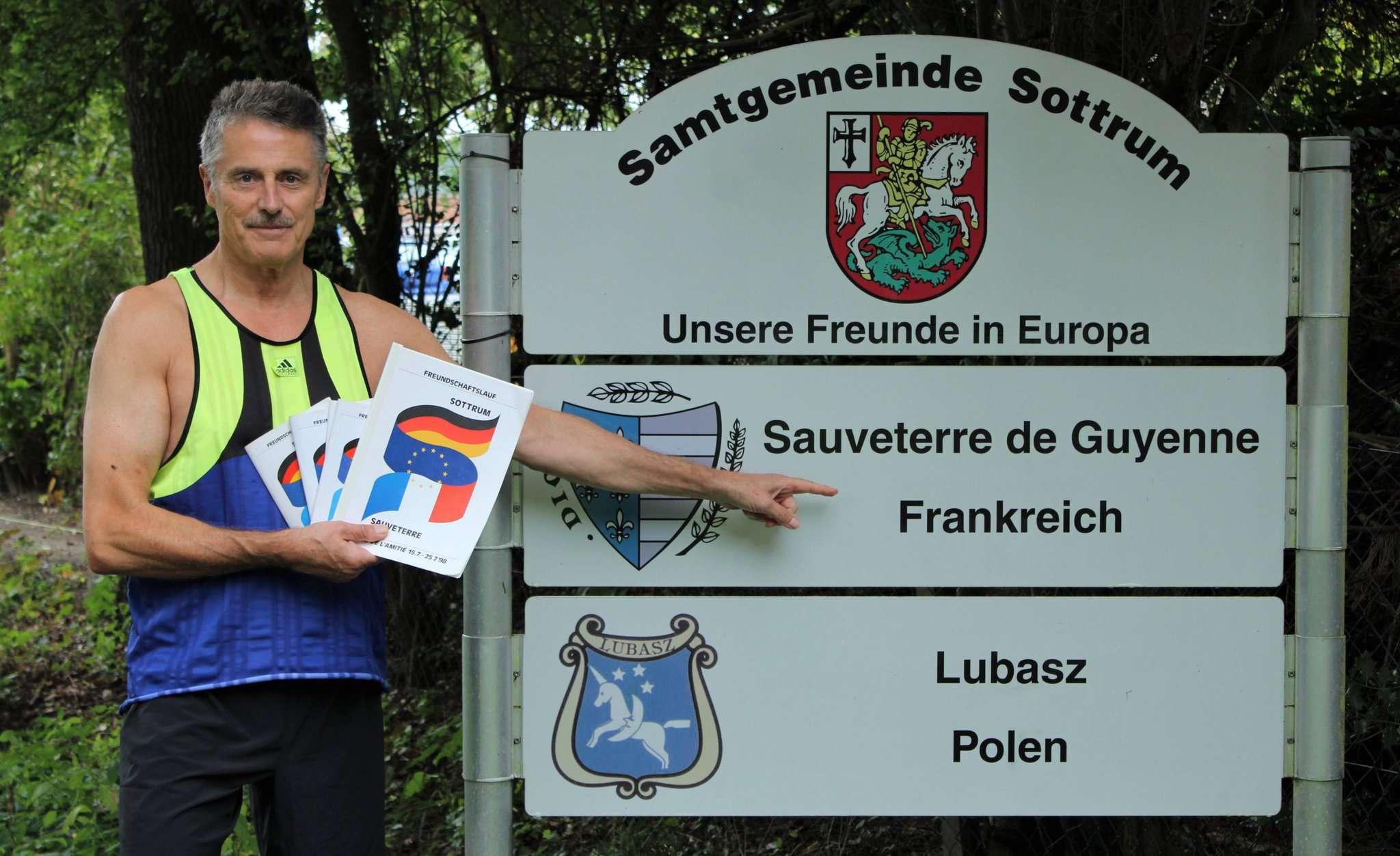 Michael Itzen hofft auf eine weitere Tour über rund 1u200a550 Kilometer von Sottrum nach Frankreich.