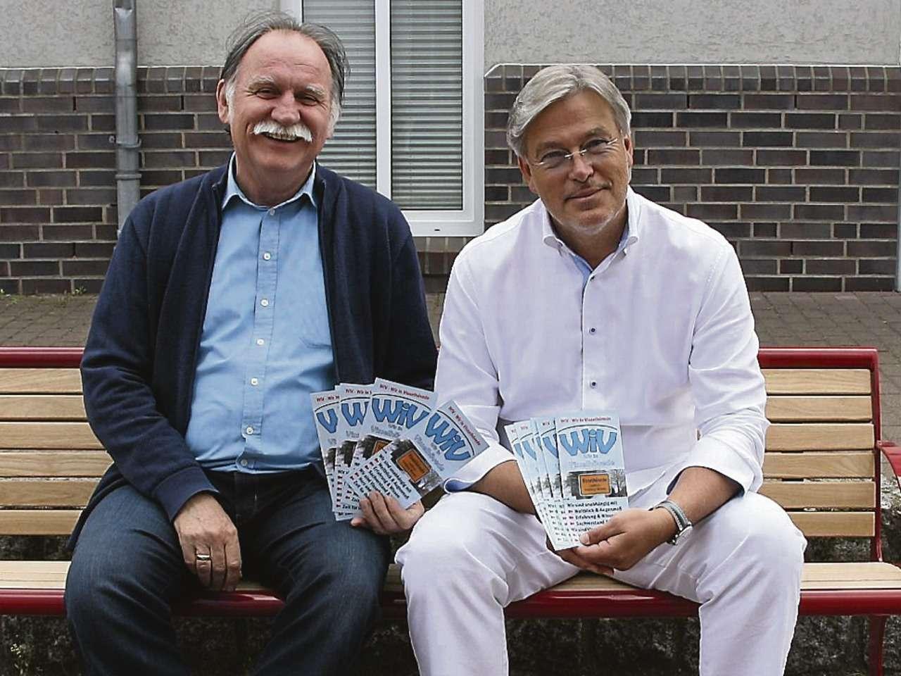 Eckhard Langanke (links) und Matthias Grube suchen für die Gruppe