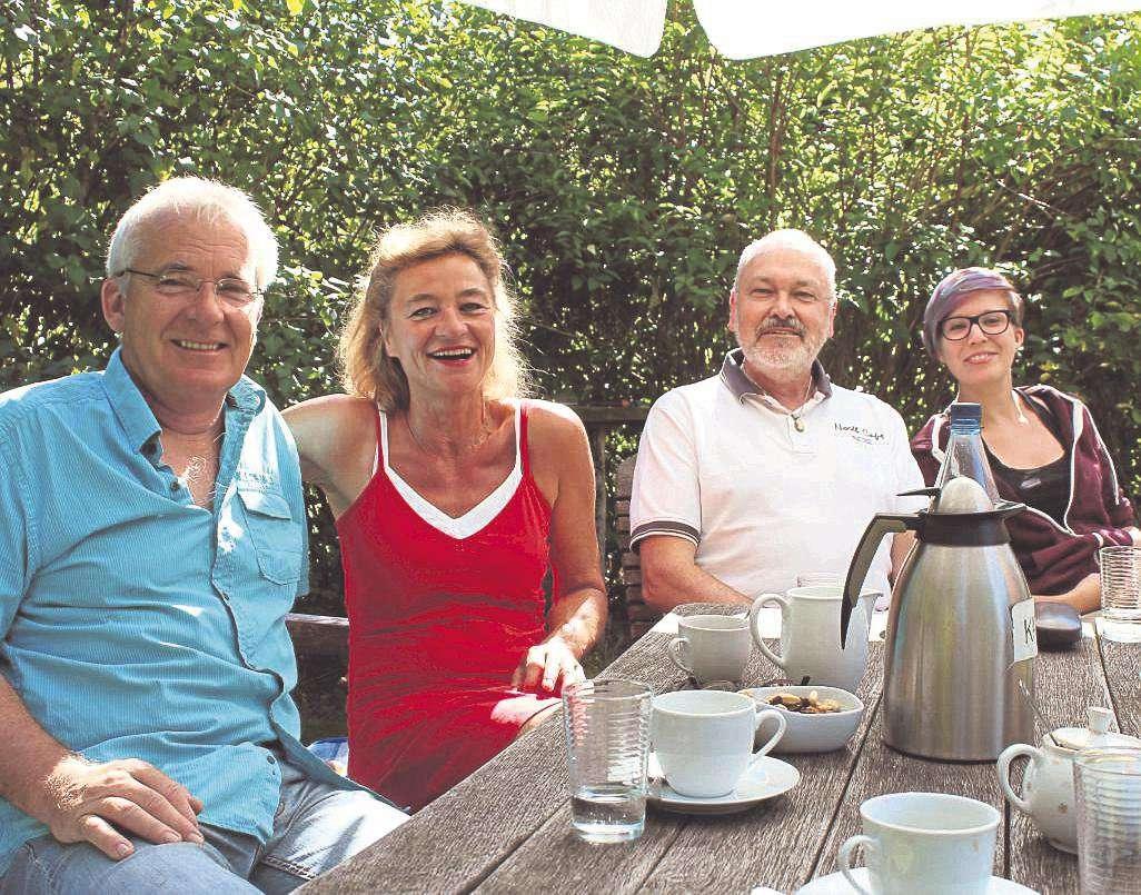 Andreas Goehrt (von links), Karin Schroeder, Ralf Struck und Tomke Heeren