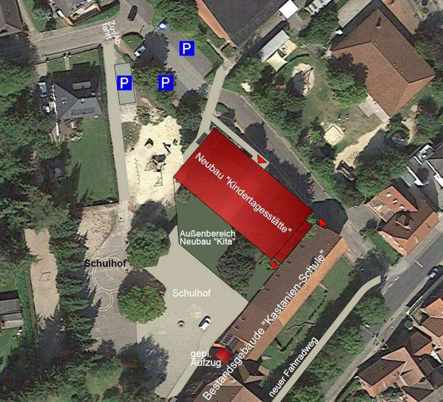 Der Standort des neuen Kindergartens steht schon fest, unklar ist allerdings noch die Verkehrsführung.
