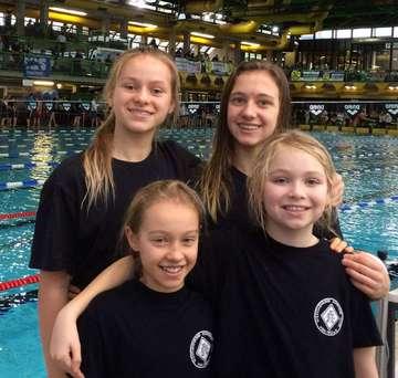 VSCSchwimmerinnen beim Internationalen Wintermeeting in Bremen