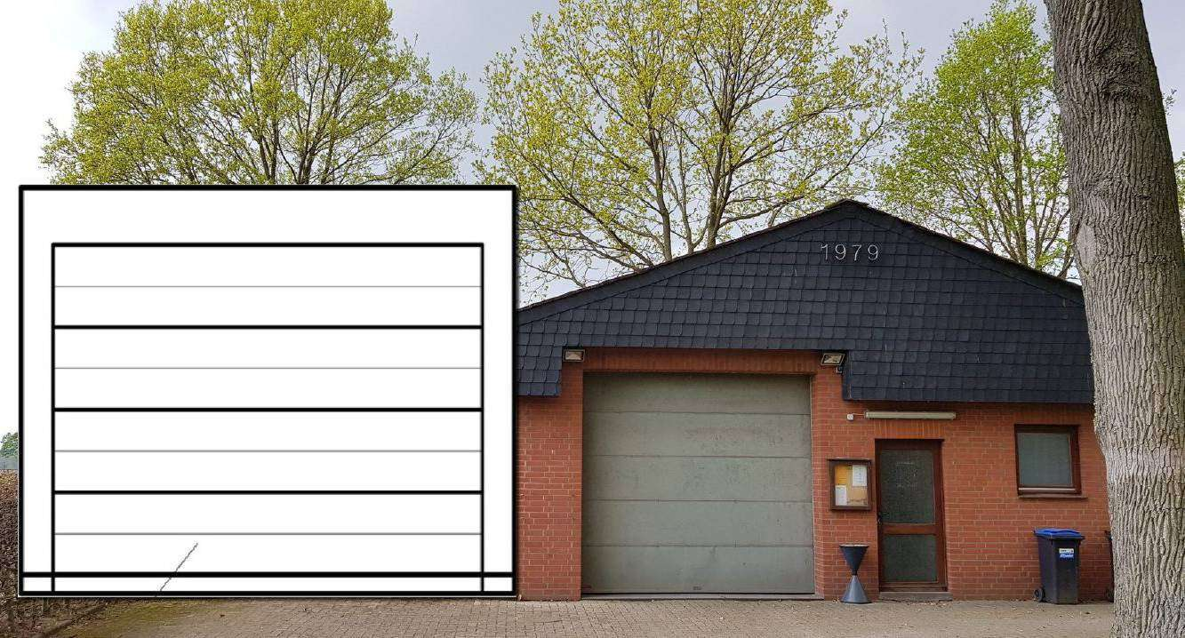 Die mögiche Lage des Erweiterungsbaus der Buchholzer Feuerwehr in einer Skizze des Bauamts.
