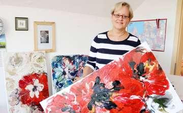 Irida KurminaFelkere zeigt erstmals ihre Kunstwerke