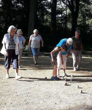 Boulespielen im Stadtpark
