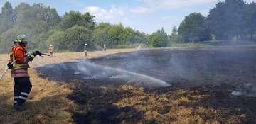 Einsatz der Feuerwehr am Großen Visselsee