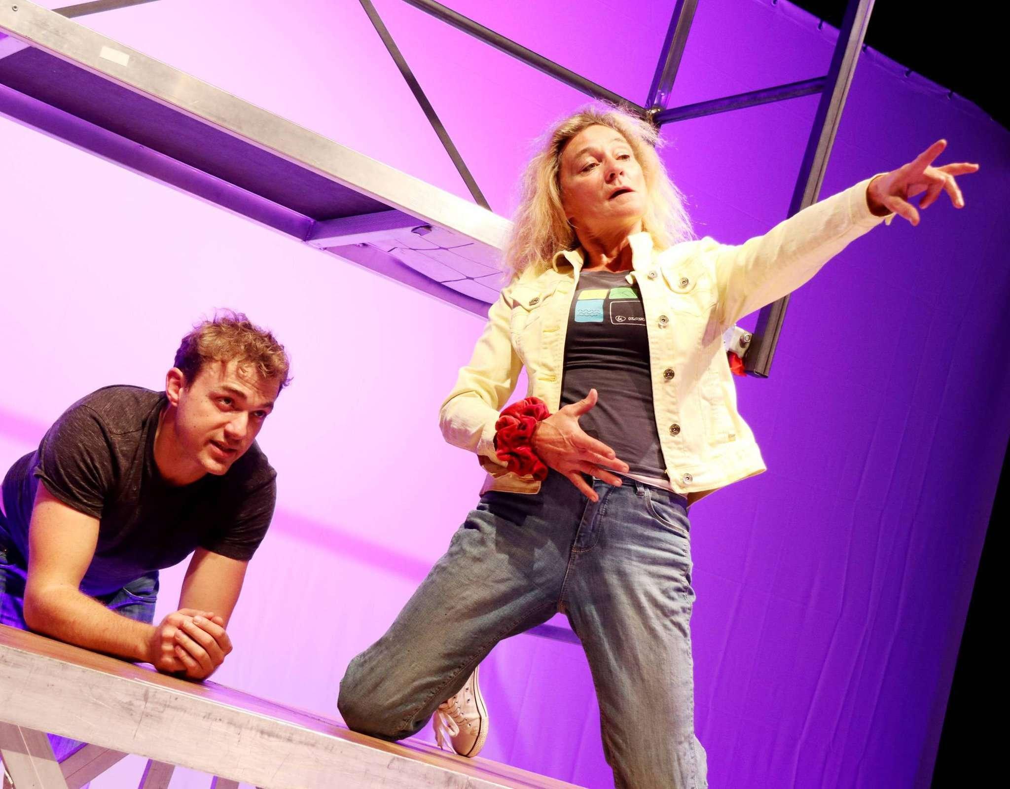 Moritz von Zeddelmann und Karin Schroeder bei den Proben für