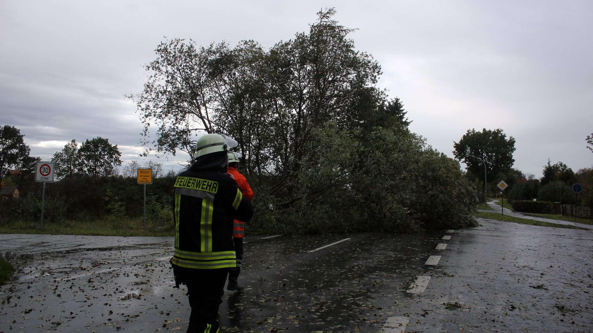 Wie hier in Wittorf hatten die Feuerwehren rund um Visselhövede dank des Sturmtiefs gut zu tun.