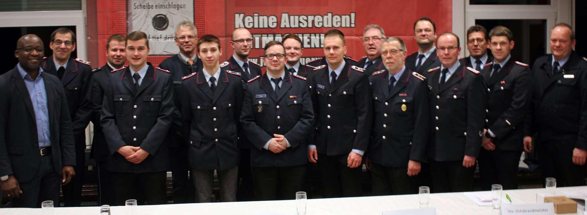 Die Mitglieder der Visselhöveder Feuerwehr und ihre Gäste ließen das vergangene Jahr Revue passieren.