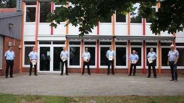 Stadt Visselhövede vereidigt sechs Feuerwehrmänner