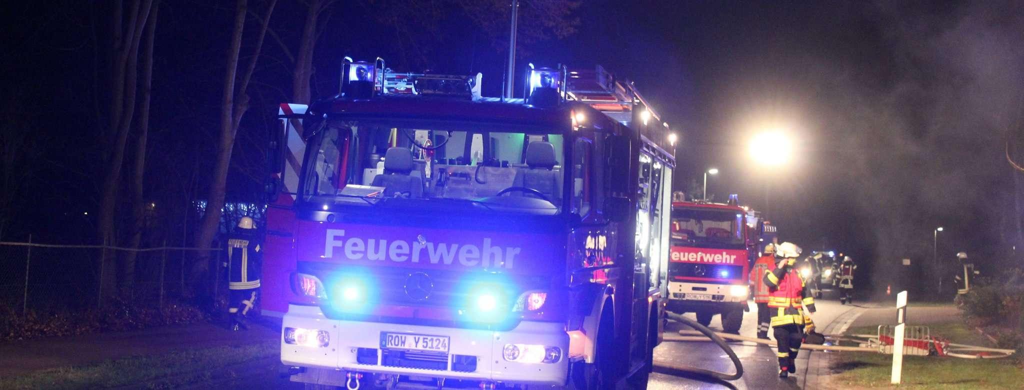 Am Neujahrstag rückte die Visselhöveder Feuerwehr zum ersten Einsatz 2021 aus, Ursache war ein Kellerbrand.