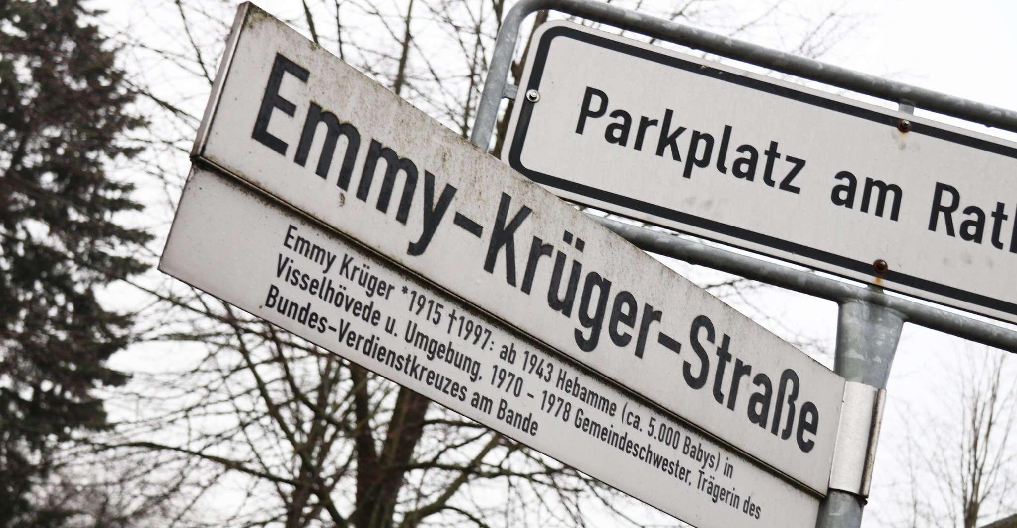 Bislang ist die Emmy-Krüger-Straße die einzige Straße in Visselhövede, die nach einer Frau benannt ist. Das soll sich nun ändern. Foto: Nina Baucke