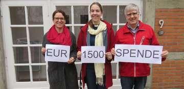 Laienspielgruppe Theatertrubel spendet 1500 Euro