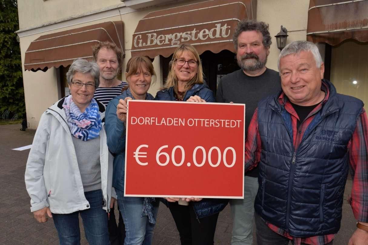 Freuen sich über das bisherige Engagement der Otterstedter: Hildegard Wiese (von links) Heiner Otterstedt, Heike Drengemann, Traute Suhr, Thomas Sprengel und Heino Frese.  Foto: Dietmar Plath