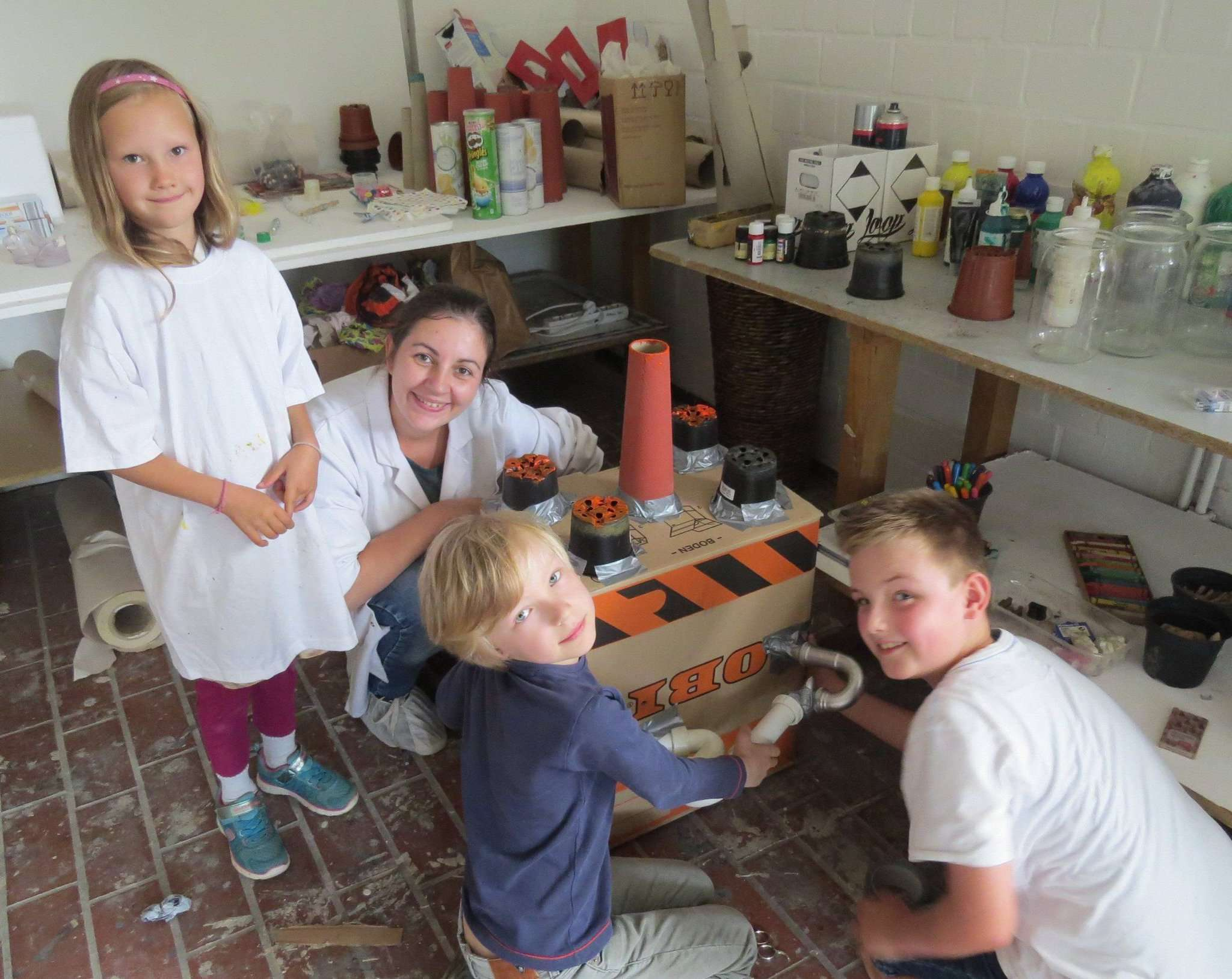 Der Kunstsommer der HKS Ottersberg bietet traditionell auch Kinderkurse an.  Foto: Elke Keppler-Rosenau