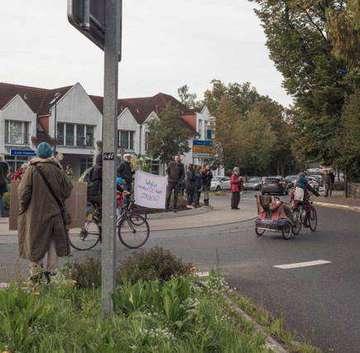 KlimaDemonstration im Ottersberger Kreisel
