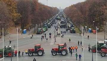 Auch hiesige Landwirte demonstrierten in Berlin