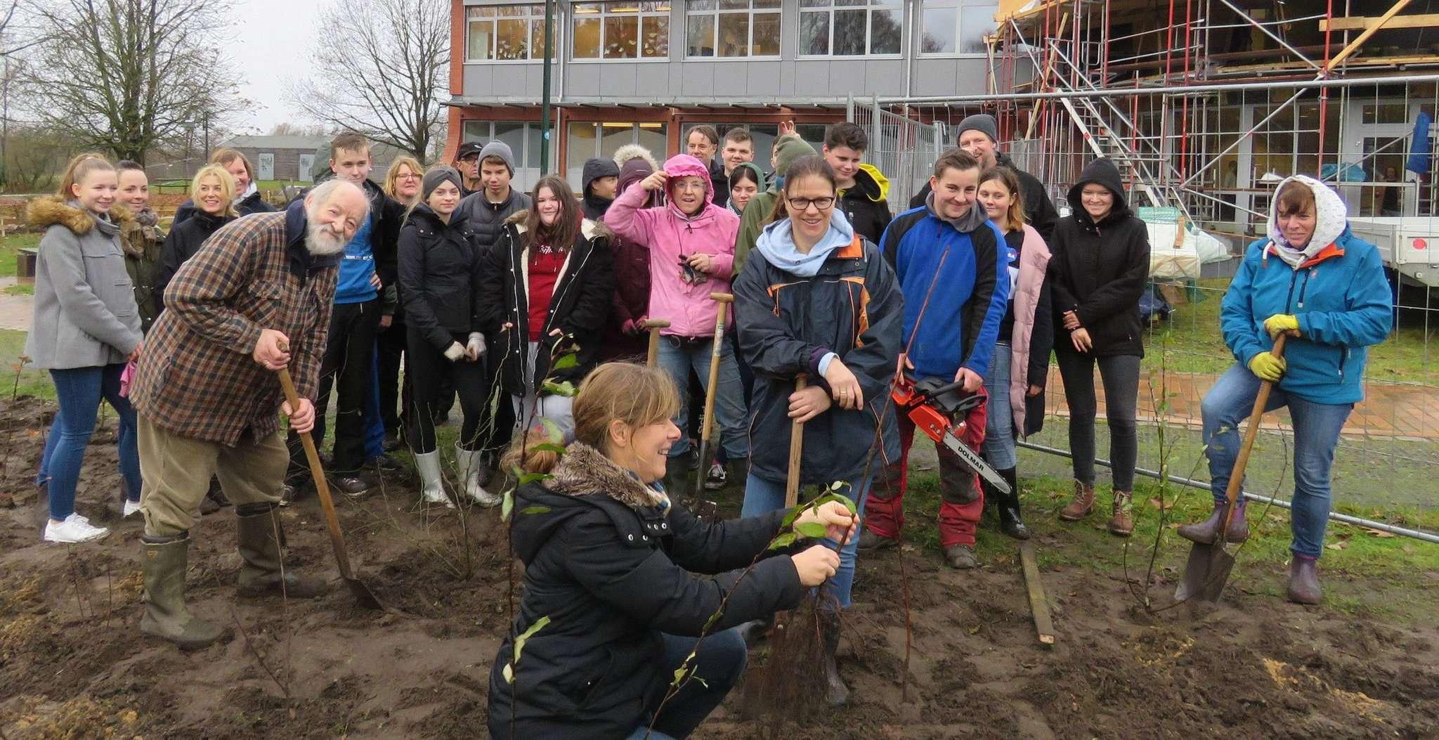 Das Außengelände der Wümmeschule und des Gymnasiums soll eine völlig neue Gestaltung erfahren. Die Vorsitzende des Fördervereins