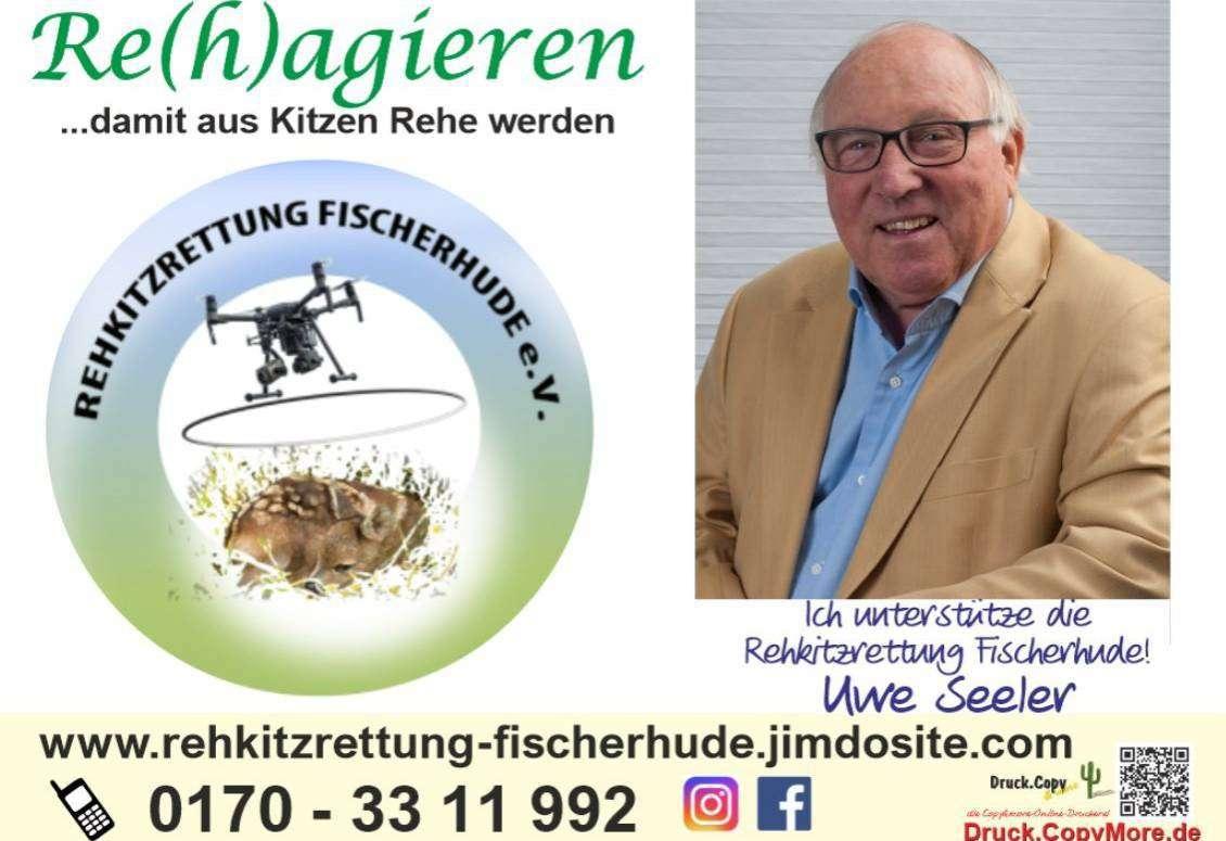 Auch Fußballikone Uwe Seeler findet die Rehkitzrettung Fischerhude unterstützenswert.
