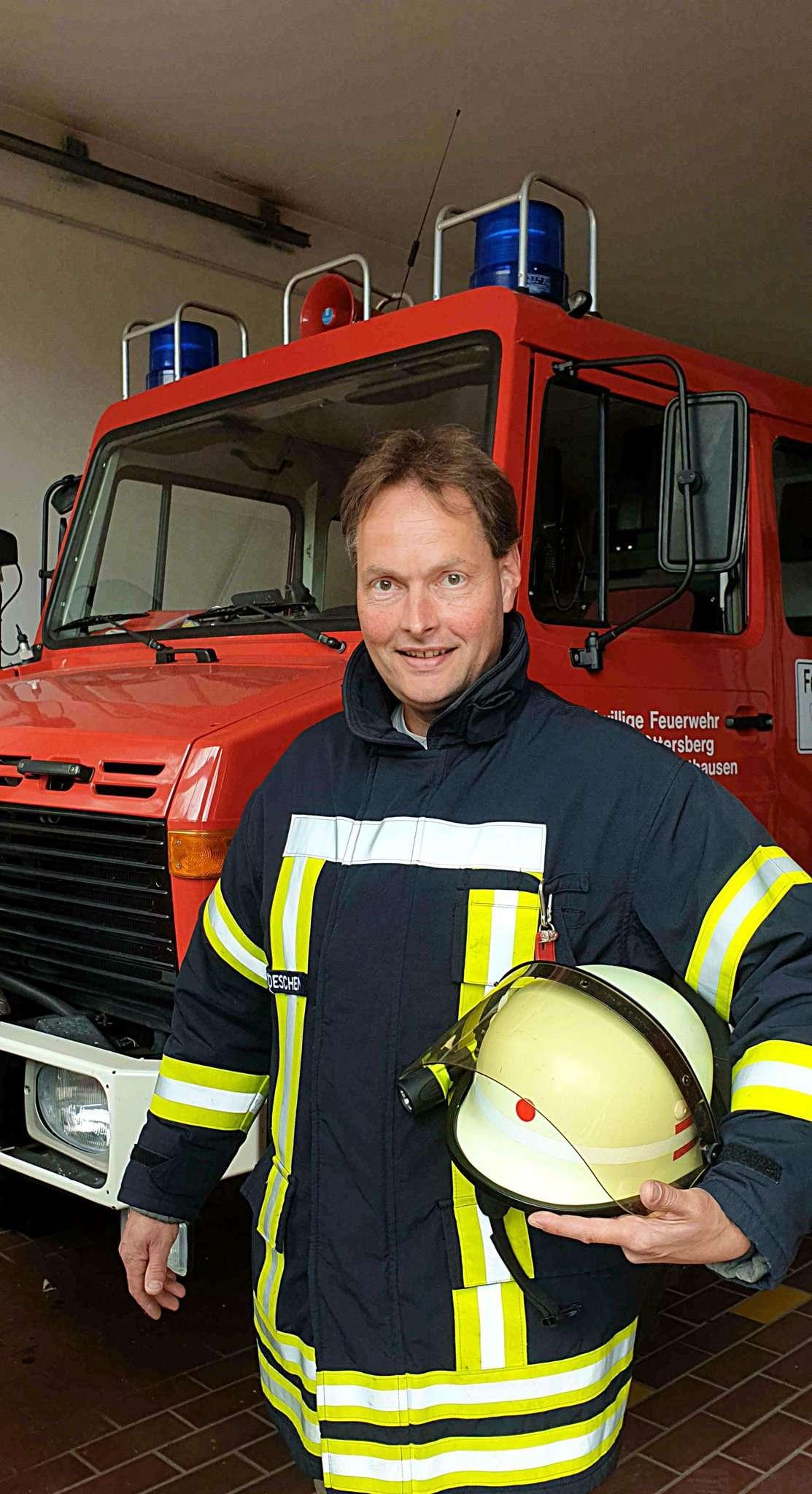 Andreas Böschen ist der neue Ottersberger Gemeindebrandmeister. Foto: Tobias Woelki