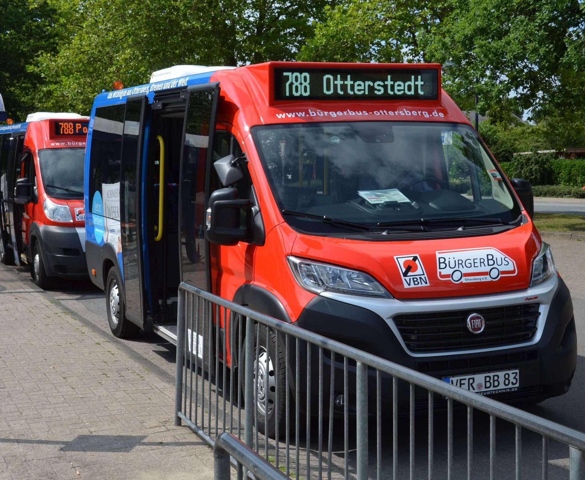 Die Ottersberger Bürgerbusse wollen am 2. Juni den Betrieb wieder aufnehmen.  Foto: BBO