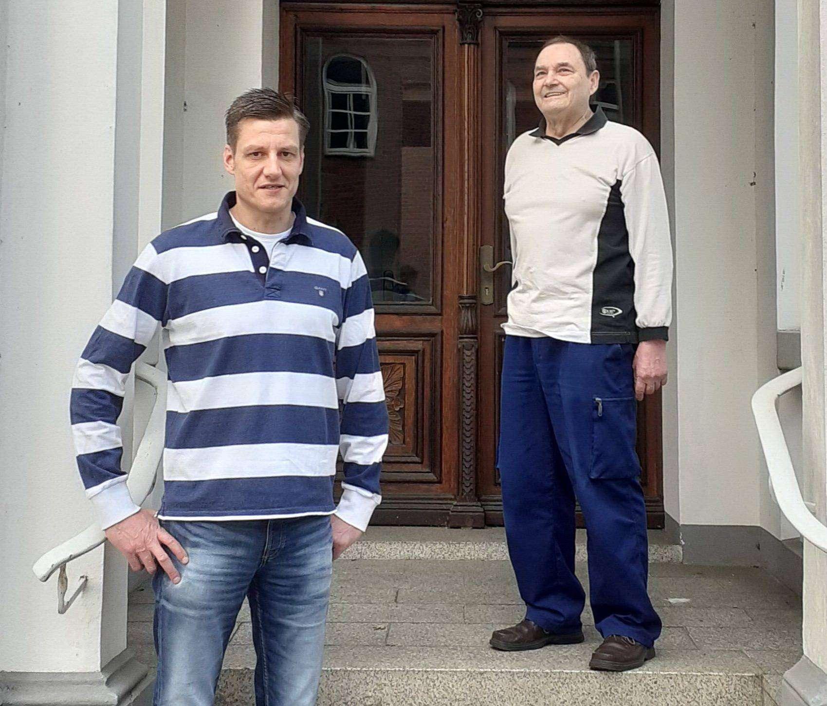 Frank Bleyer (links) und Karl-Heinz Nowotnik verstärken ab sofort die Ottersberger SPD. Foto: SPD Ottersberg