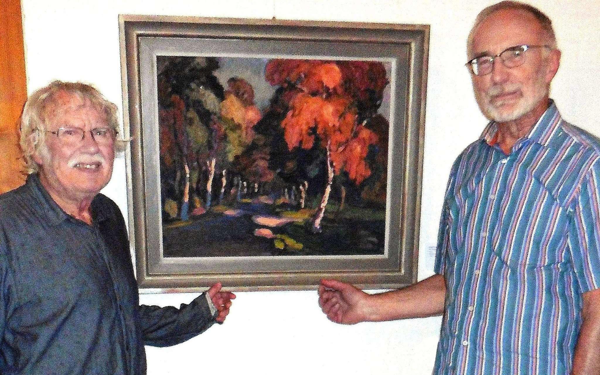Werke von Wolf-Dietmar Stock (links) sind nun auch in dem virtuellen Museum von