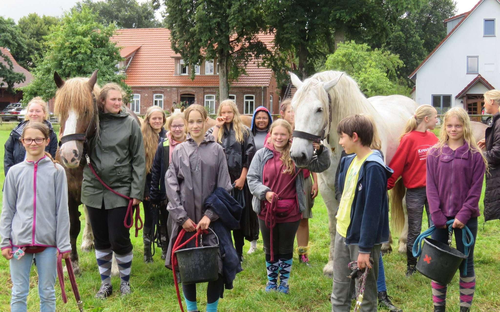 Ziel erreicht: Der Ponytreck aus Hannover endete diesmal in Otterstedt.