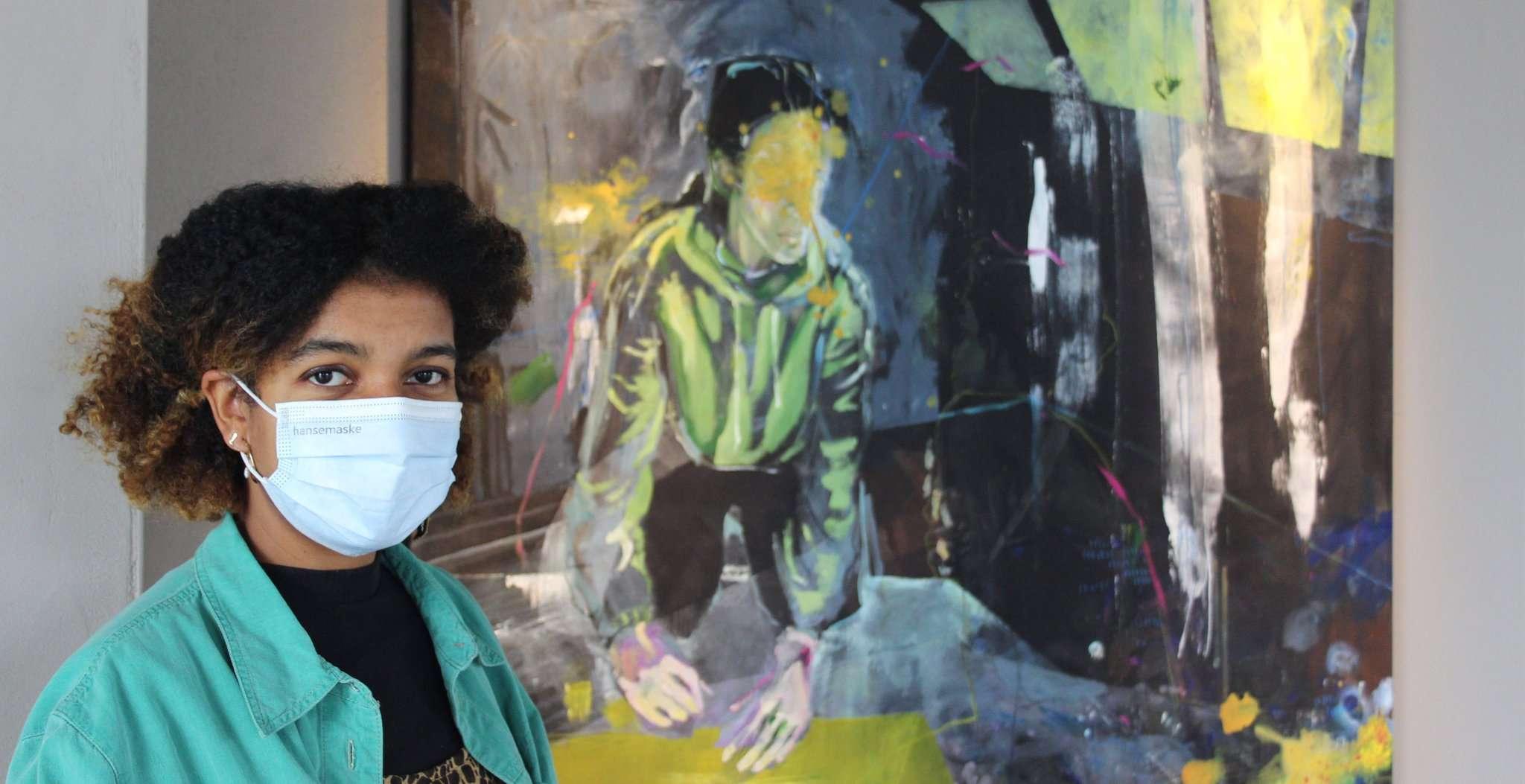Die angehende Kunsttherapeutin Raja Golt stellt vom 19. April bis 3. Mai sechs ihrer Werke in der ehemaligen Güterhalle des Ottersberger Bahnhofs aus Foto: Björn Blaak