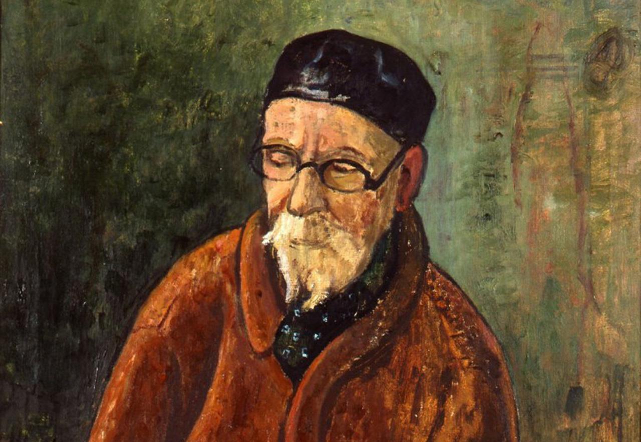 Künstler malt Künstler beim Malen: So sah Hans Meyboden den Maler Otto Modersohn, der in diesem Jahr 150 Jahre alt geworden wäre.