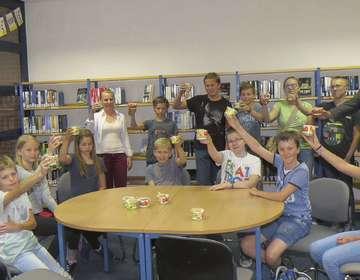 JuliusAbschlussfeier in Bücherei