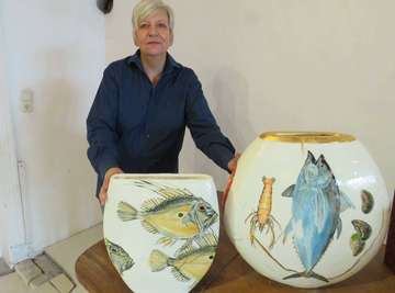 Keramik Elisabeth Wischeropp und Bai Yi stellen gemeinsam aus