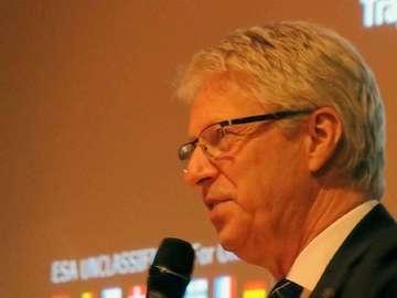 Astronaut Thomas Reiter berichtet über seine Arbeit im All