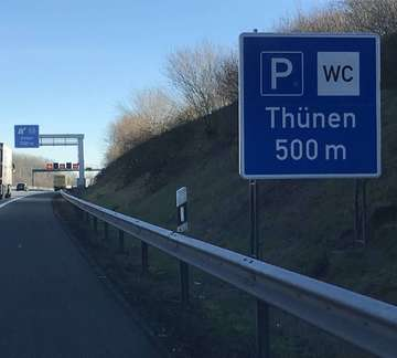 Rastplatz an der A1 hat einen neuen Namen