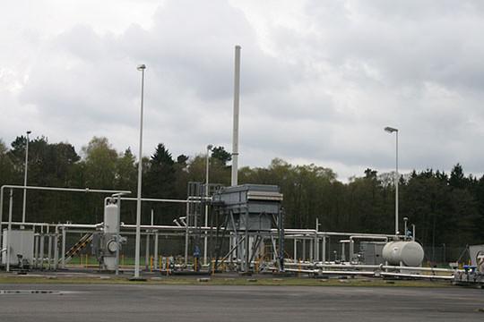 Proben wurden nahe Erdgasbohrungen wie dieser vom LBEG genommen         Foto: Archiv