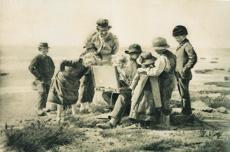 Fidele Kritiker, Foto des Malers Heinrich Petersen-Angeln von Wilhelm Dreesen