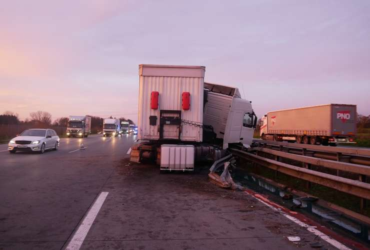 Unfall mit Sattelzug