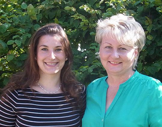 Die Klassenlehrerinnen für die kommenden zwei fünften Klassen der Fintauschule: Stefanie Meden (links) und Kathrin Paul