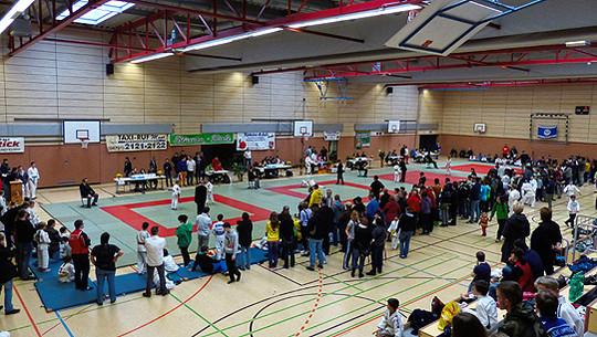 Die Wettkampfhalle des Hamme-Turniers in Ritterhude